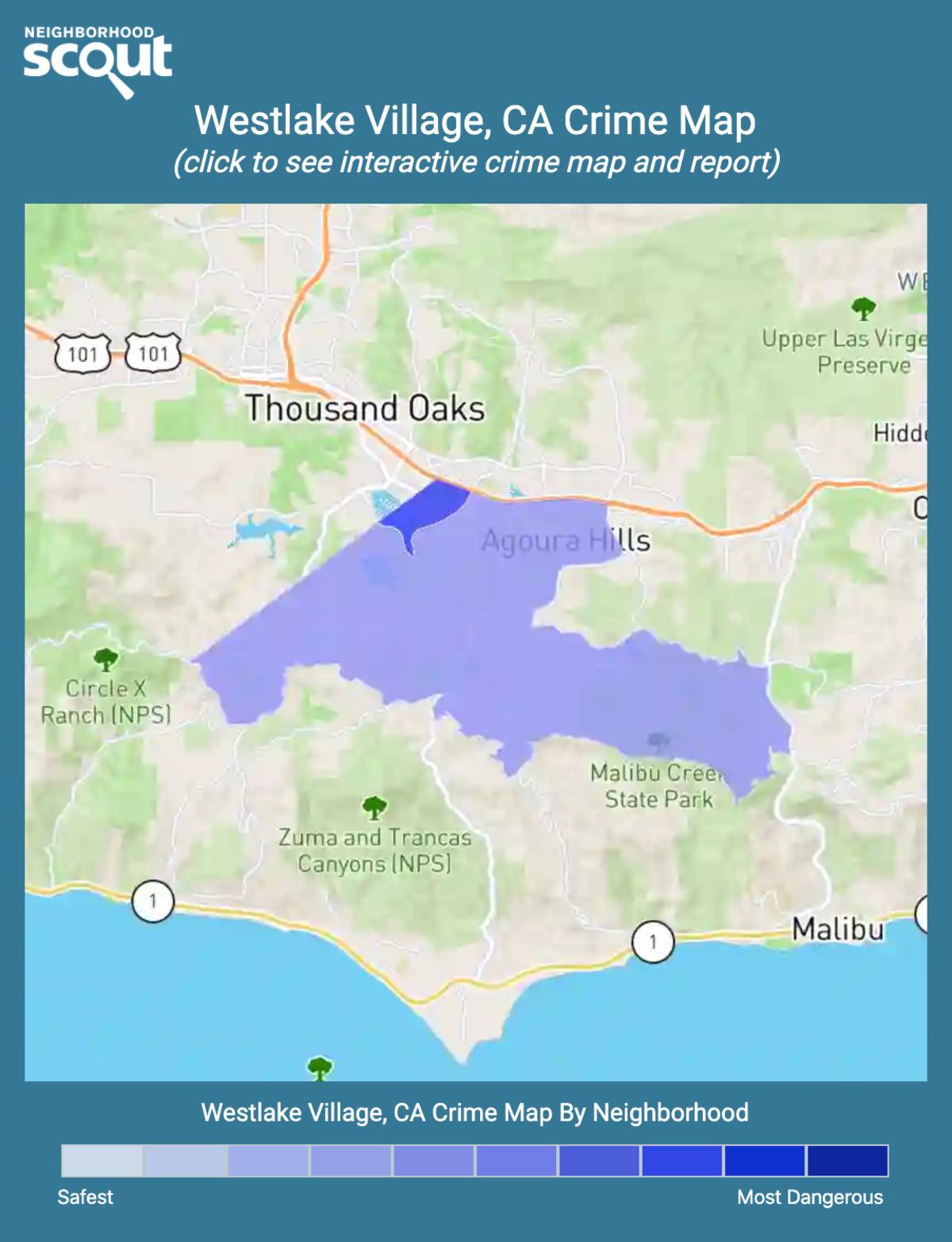 Westlake Village, California crime map