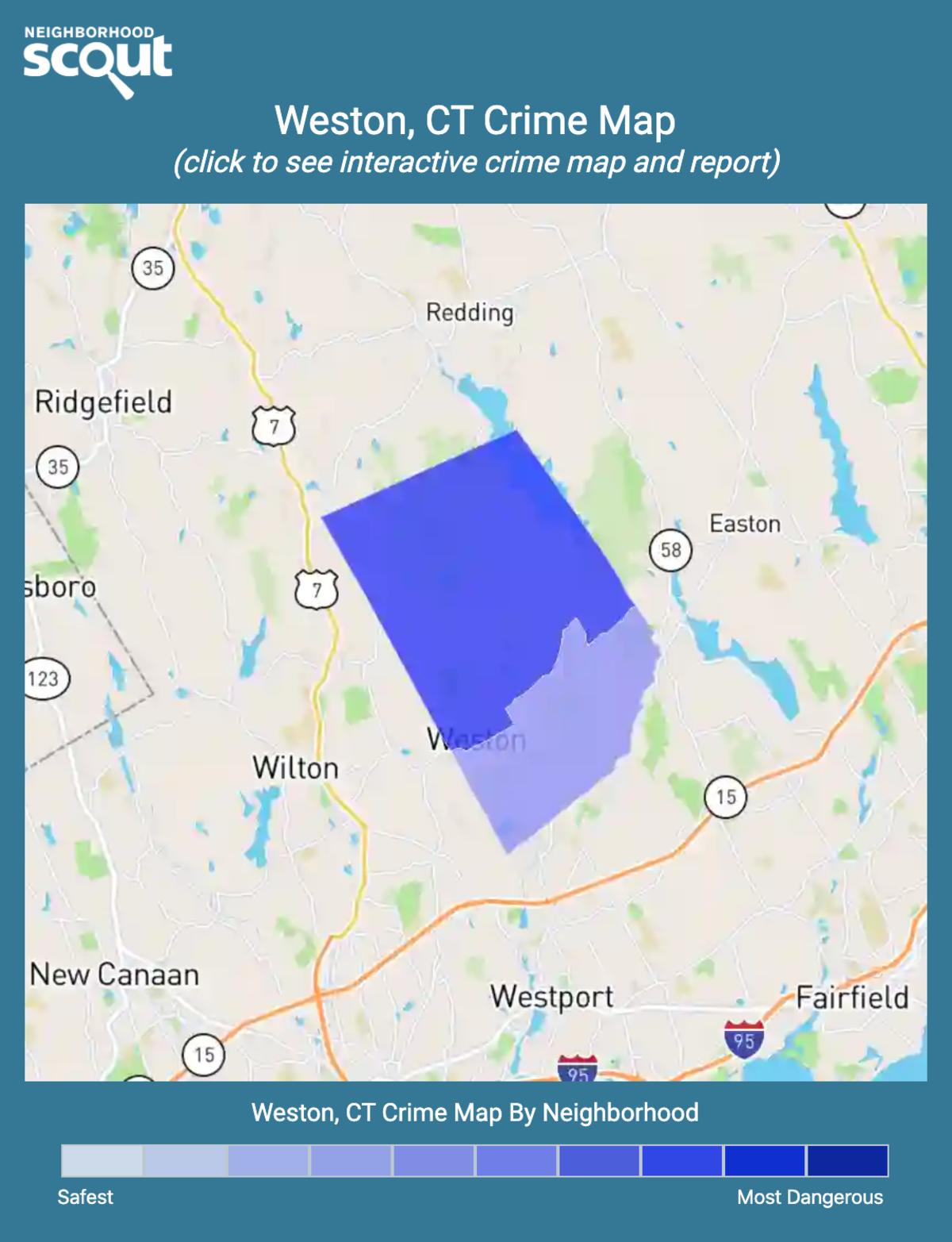 Weston, Connecticut crime map