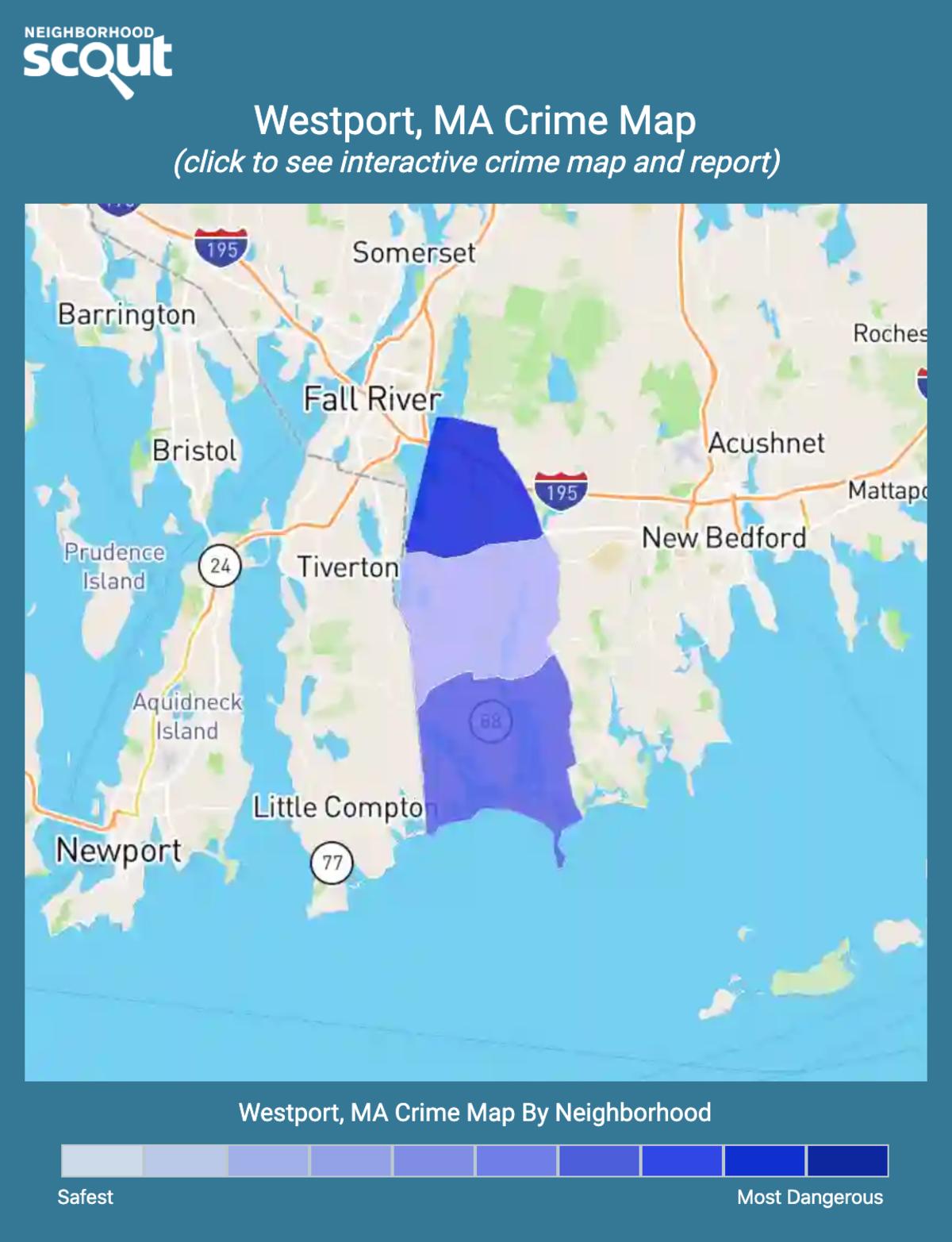 Westport, Massachusetts crime map