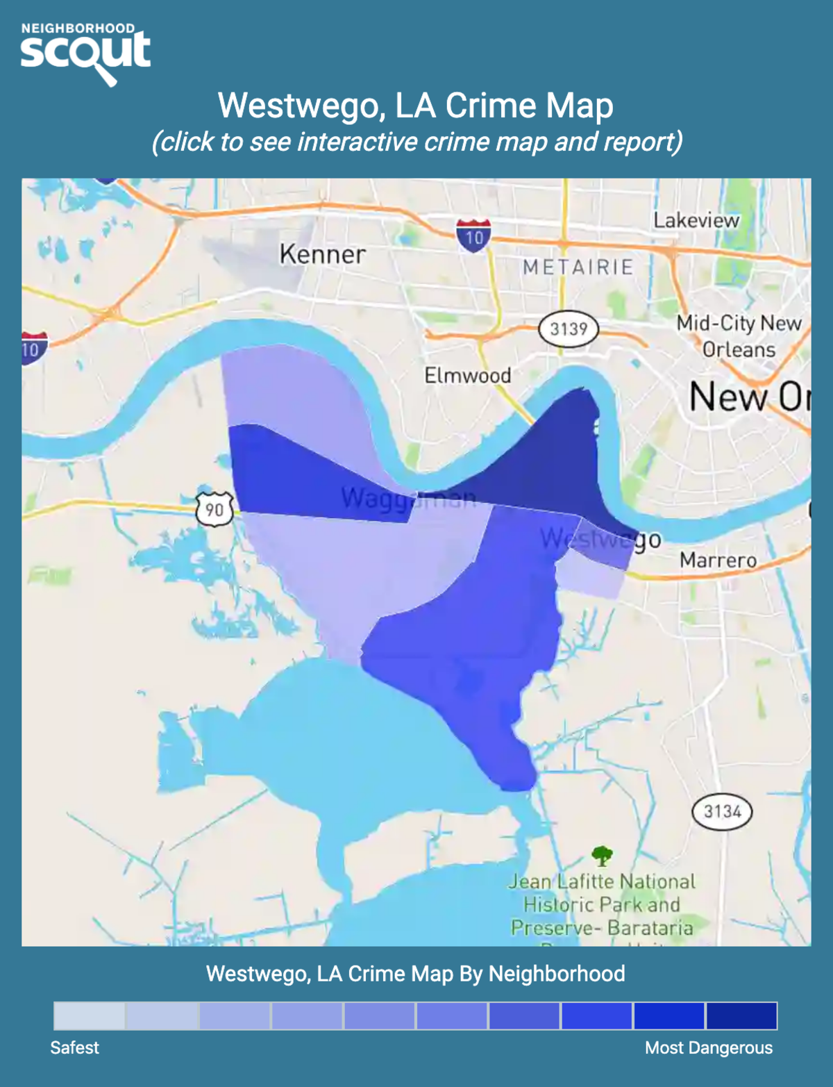 Westwego, Louisiana crime map