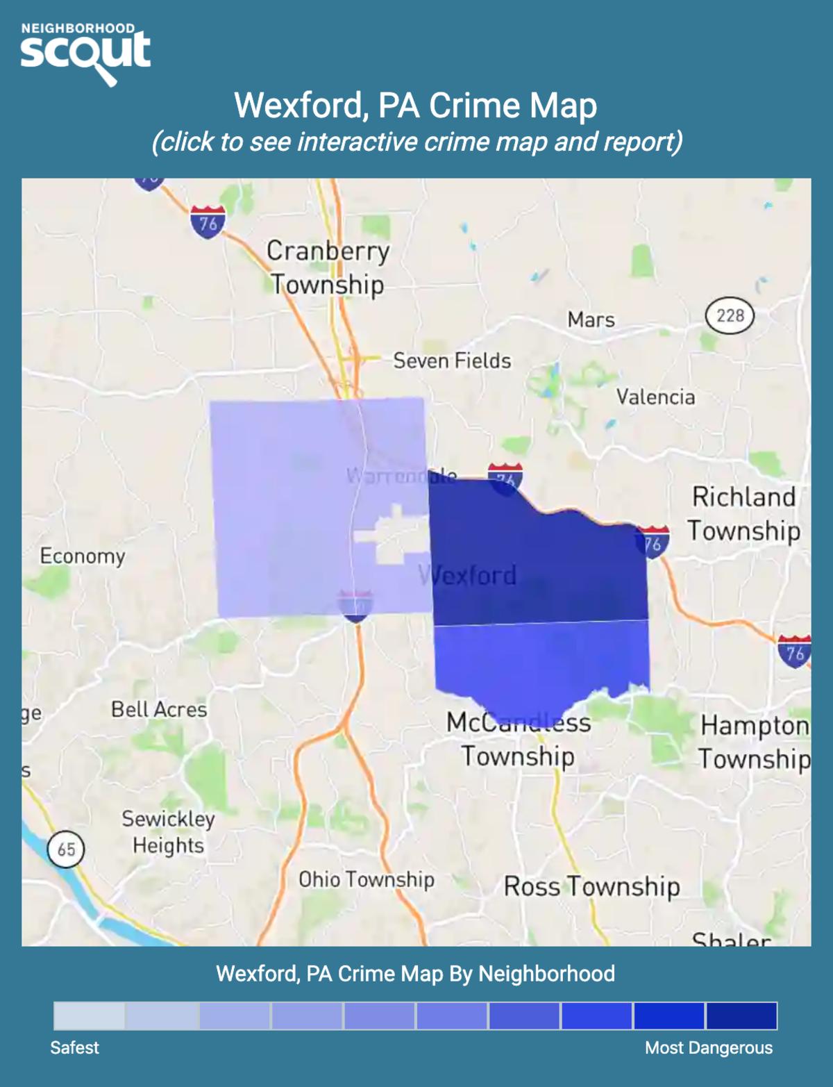Wexford, Pennsylvania crime map