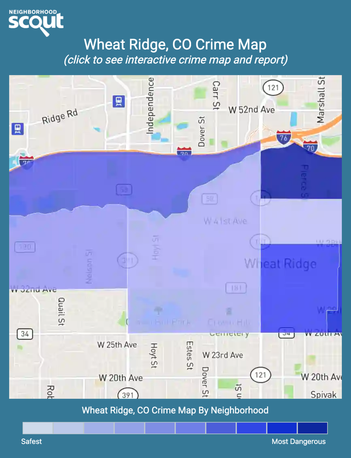 Wheat Ridge, Colorado crime map