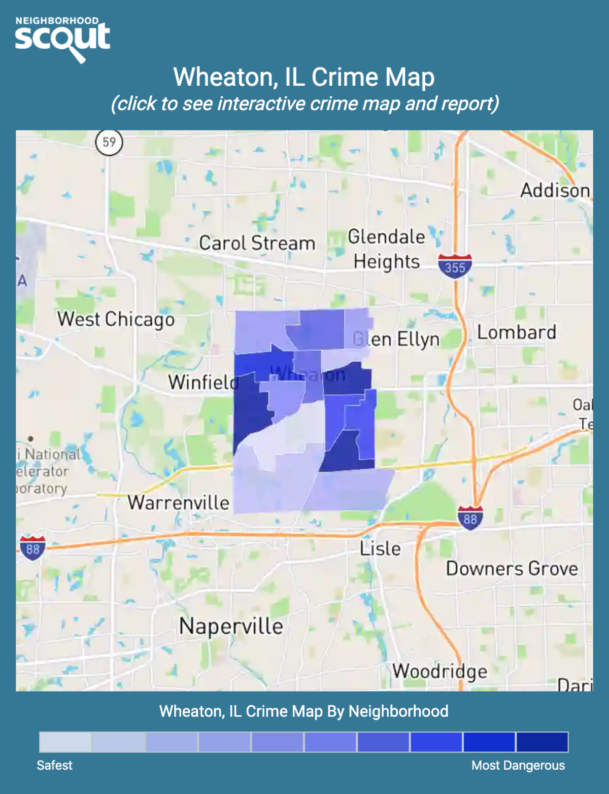 Wheaton, Illinois crime map