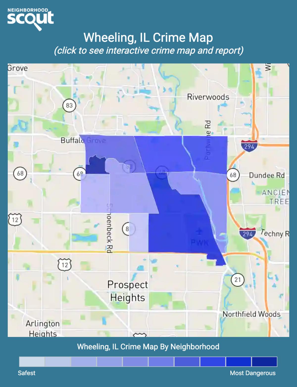 Wheeling, Illinois crime map