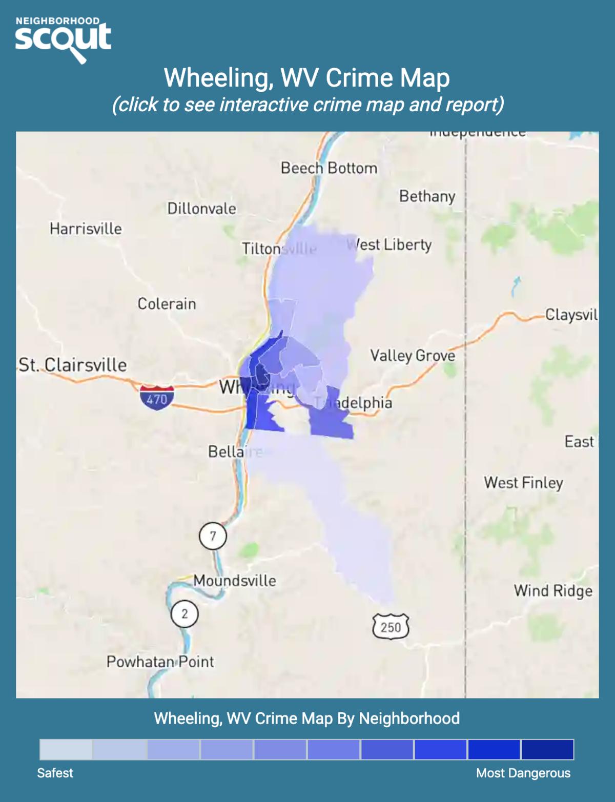 Wheeling, West Virginia crime map