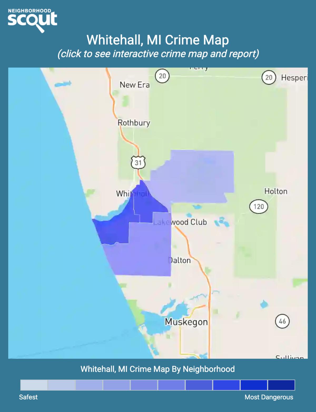 Whitehall, Michigan crime map