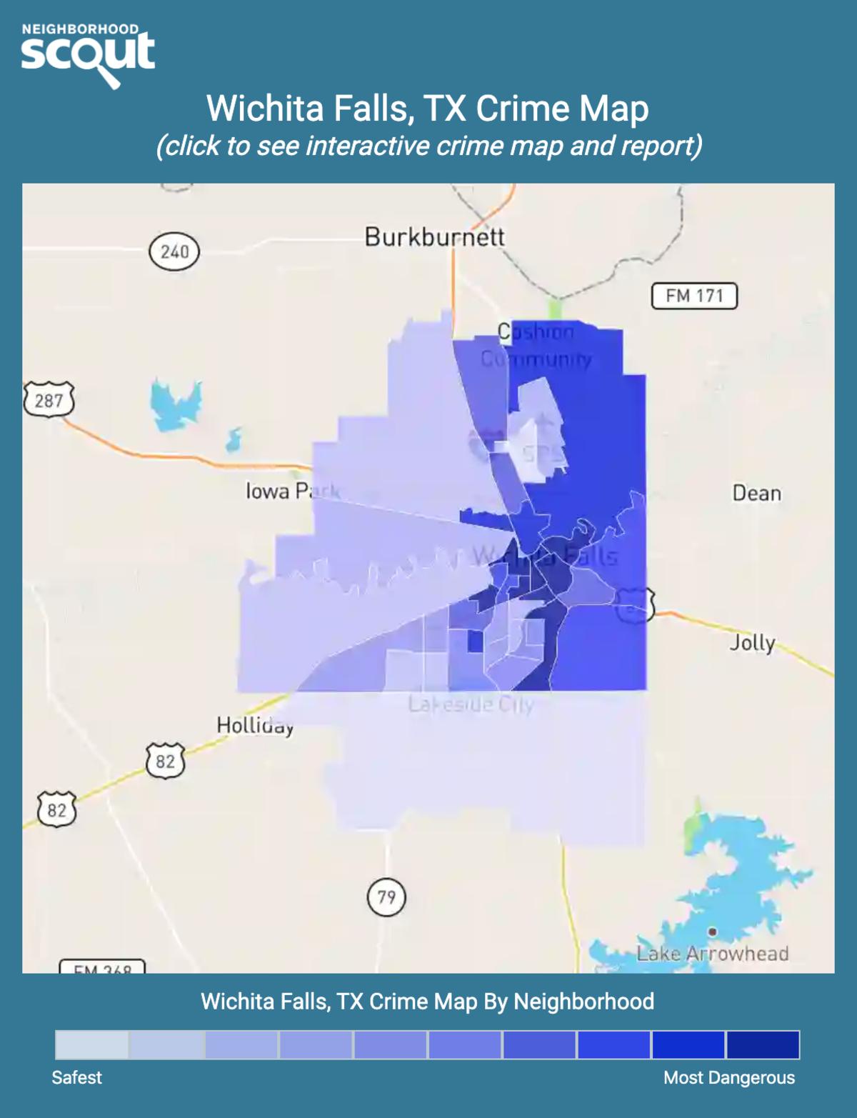 Wichita Falls, Texas crime map
