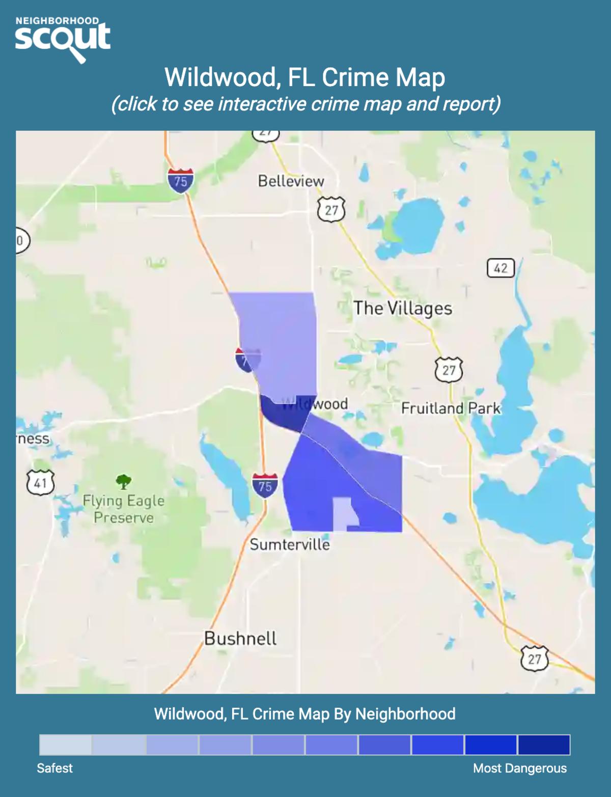 Wildwood, Florida crime map