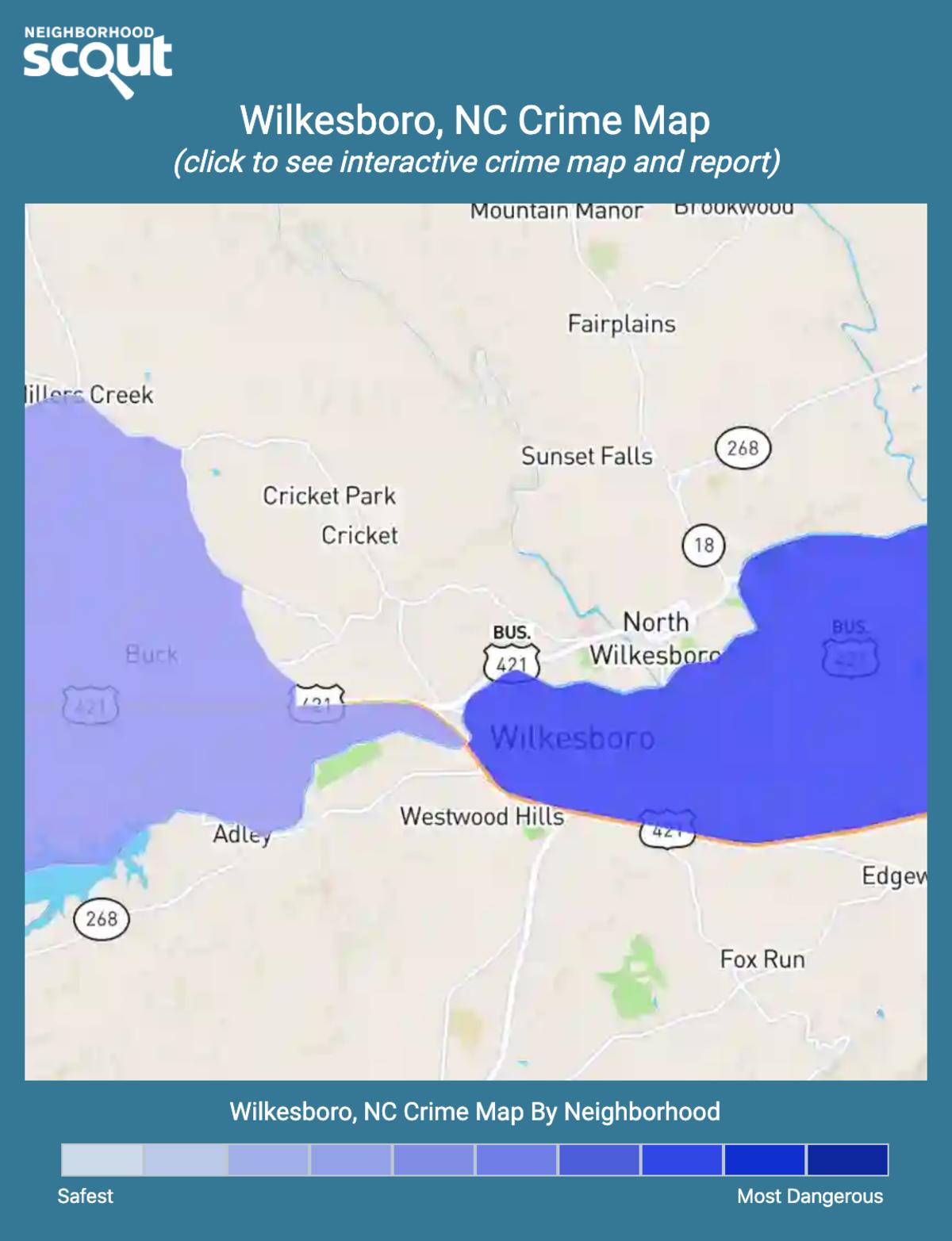 Wilkesboro, North Carolina crime map