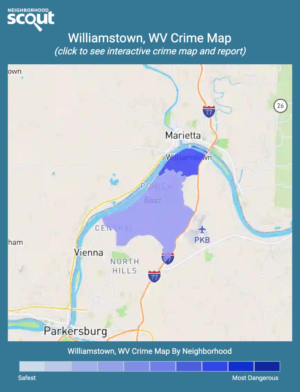 Williamstown, West Virginia crime map