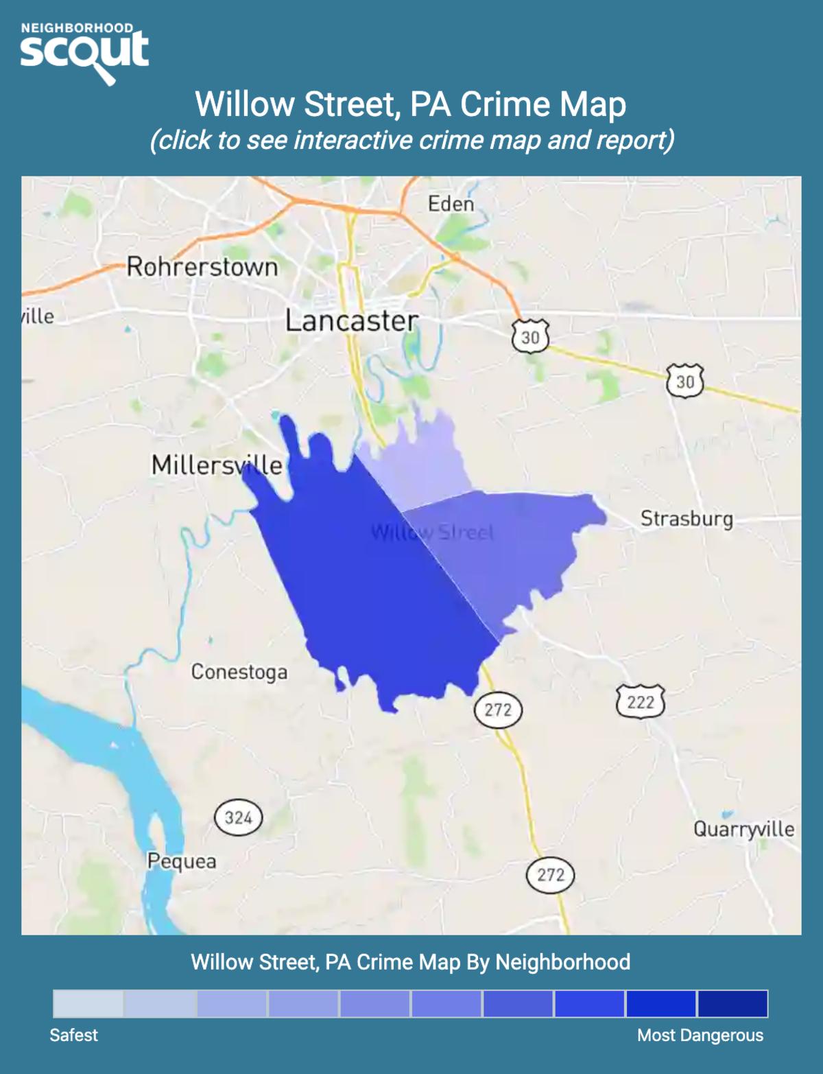 Willow Street, Pennsylvania crime map
