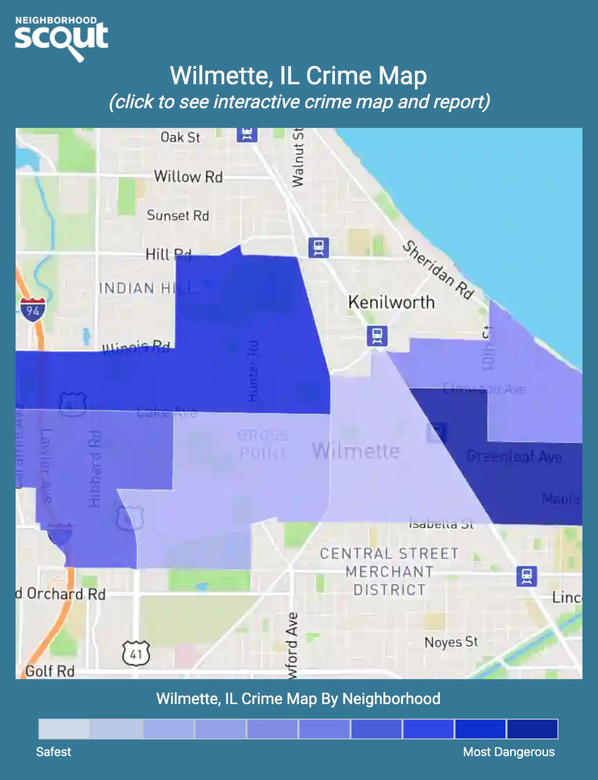 Wilmette, Illinois crime map