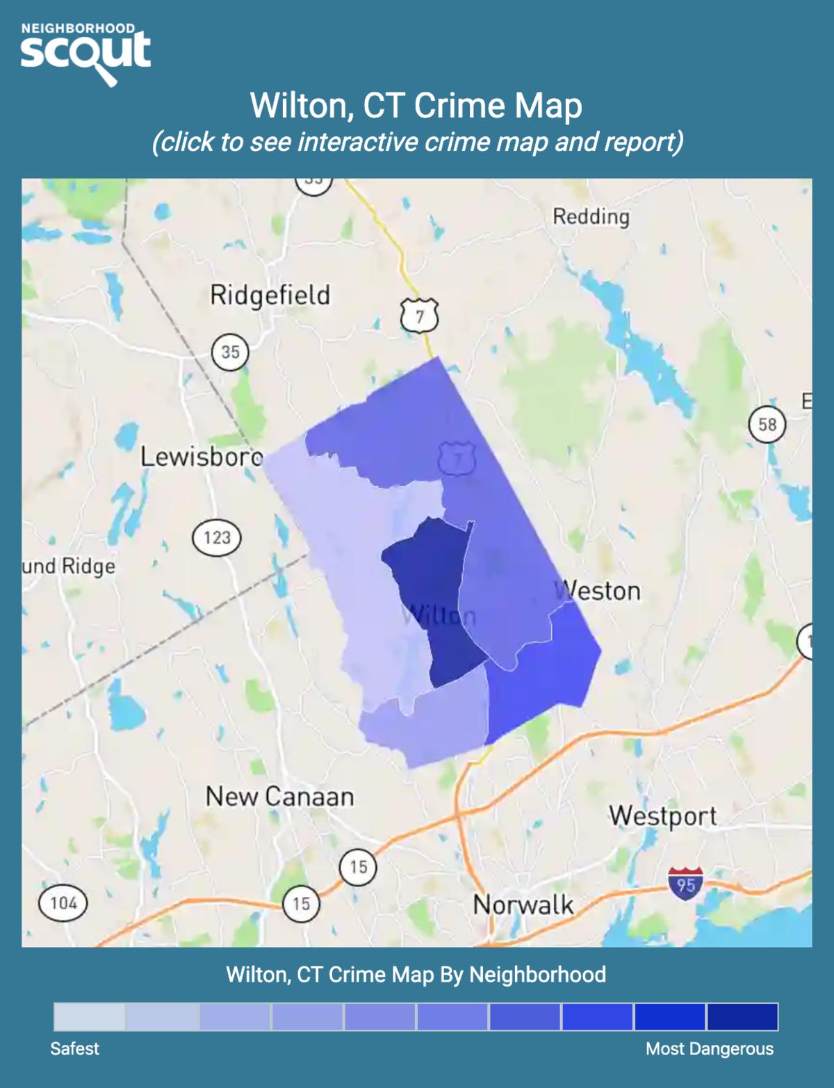 Wilton, Connecticut crime map