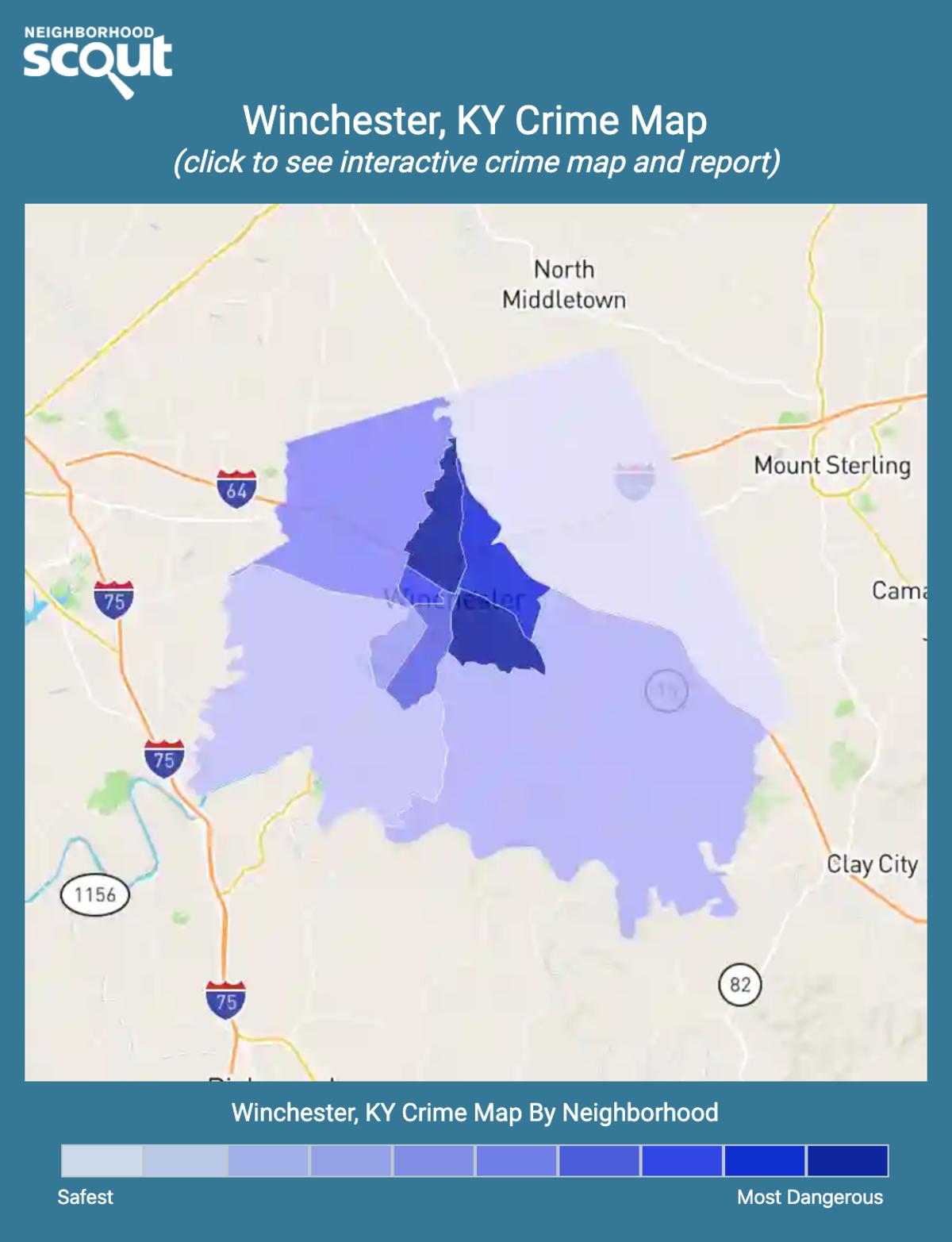Winchester, Kentucky crime map