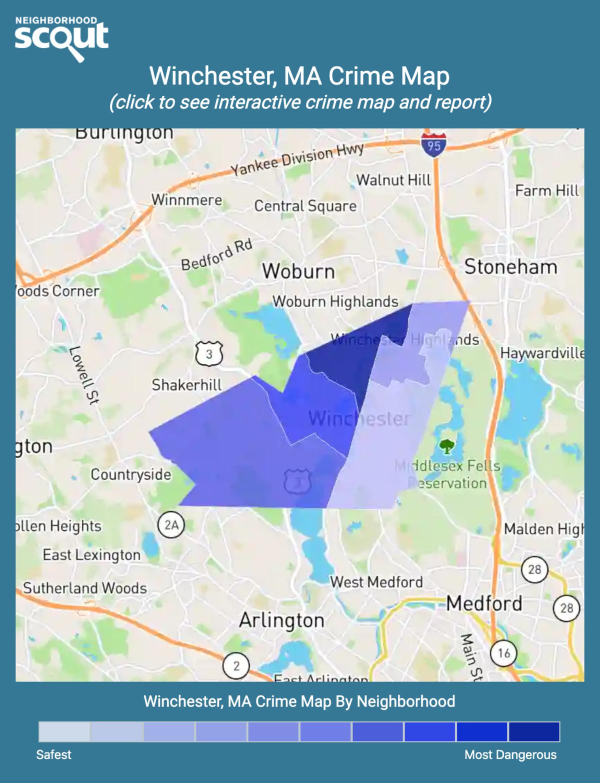 Winchester, Massachusetts crime map
