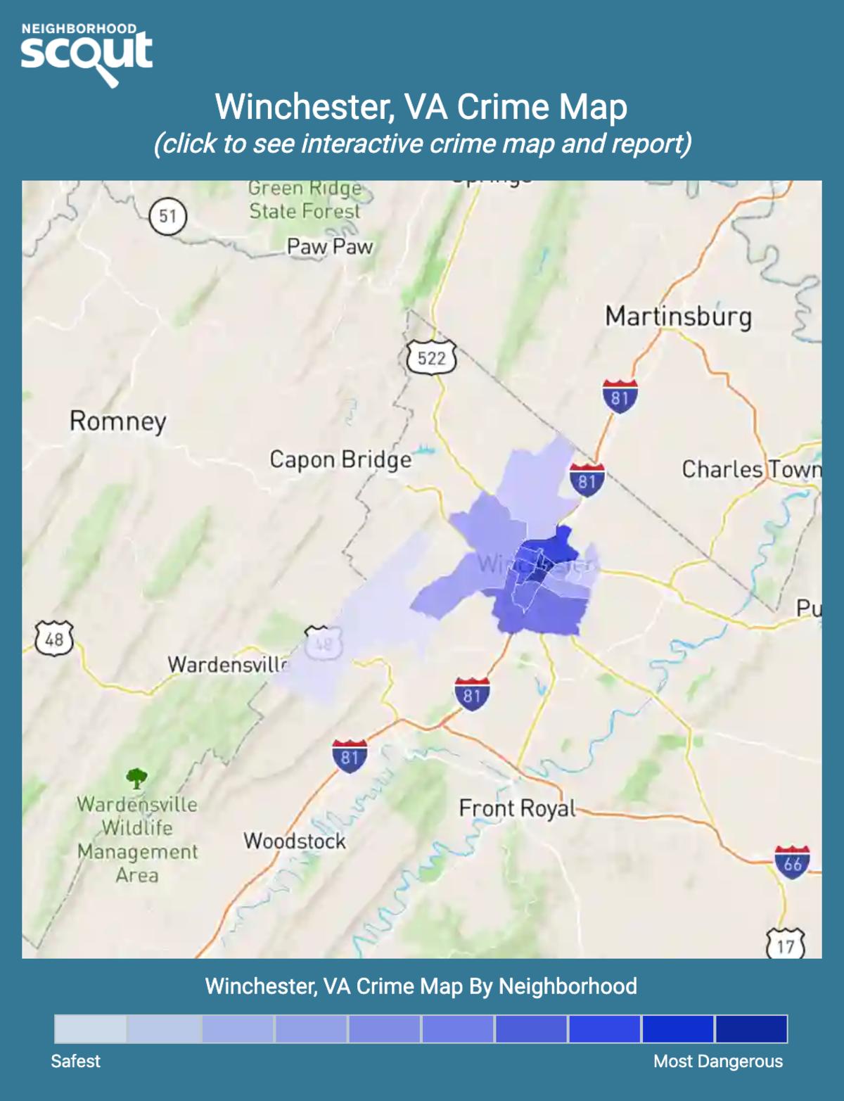 Winchester, Virginia crime map