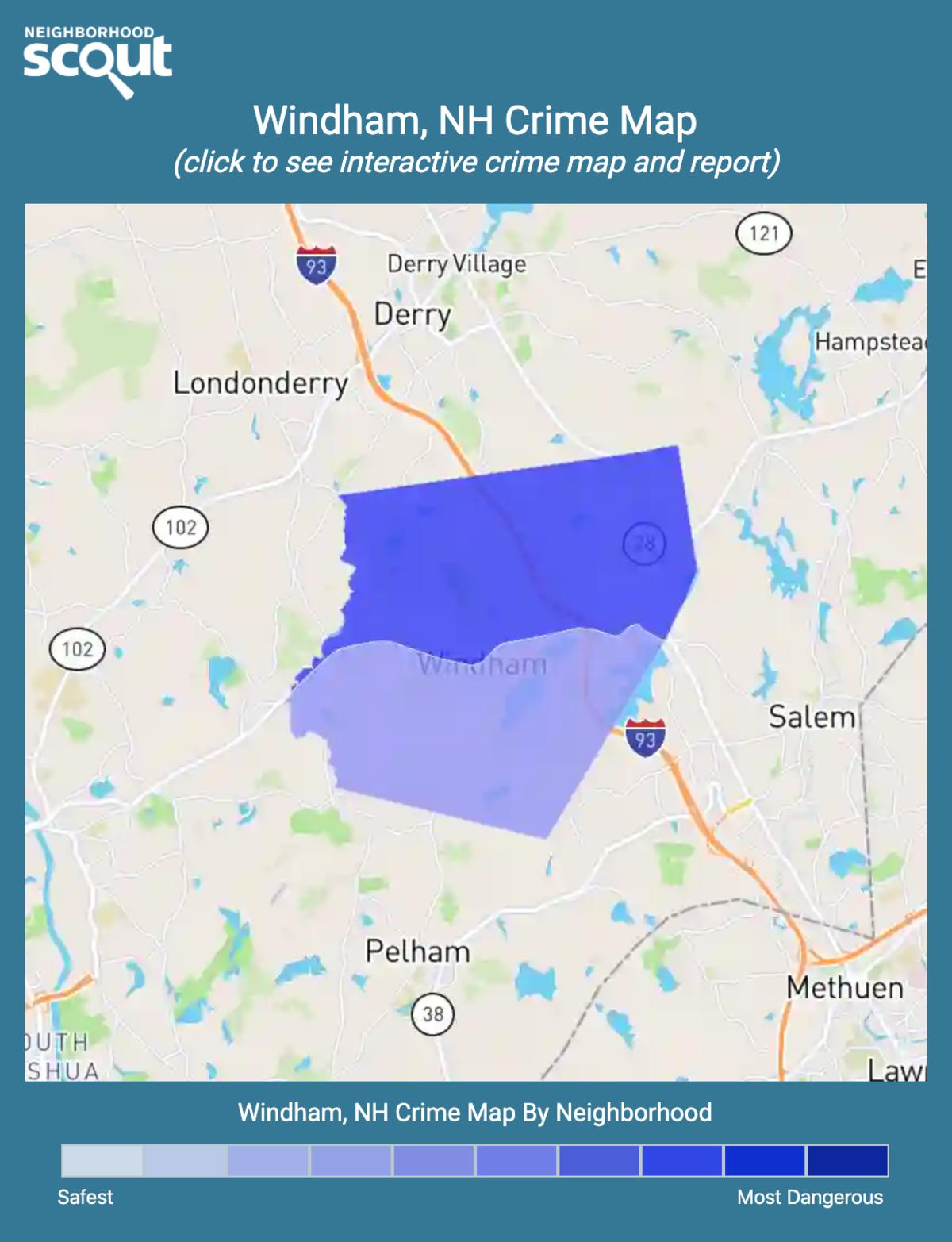 Windham, New Hampshire crime map