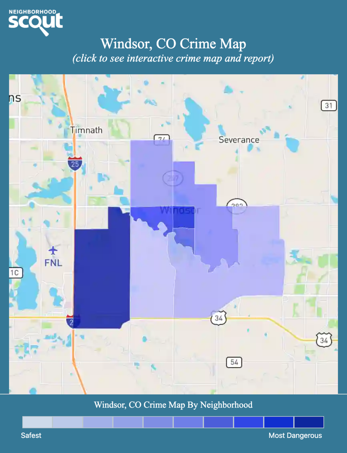 Windsor, Colorado crime map
