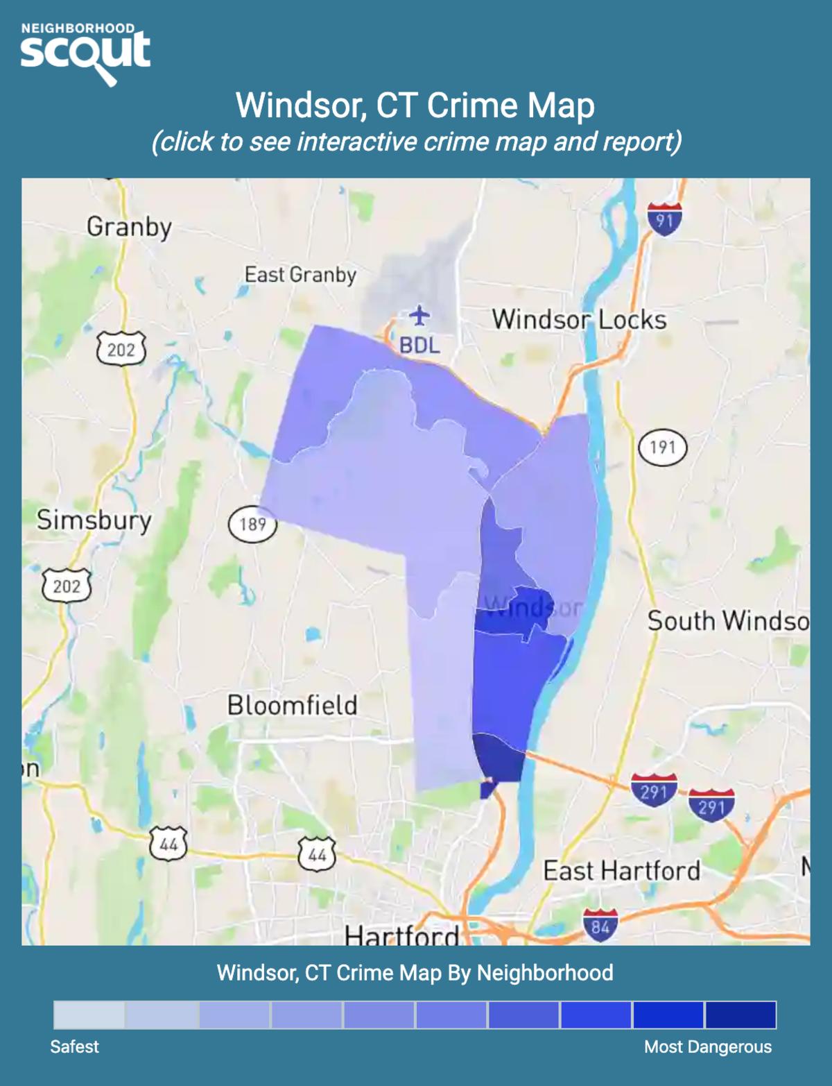 Windsor, Connecticut crime map