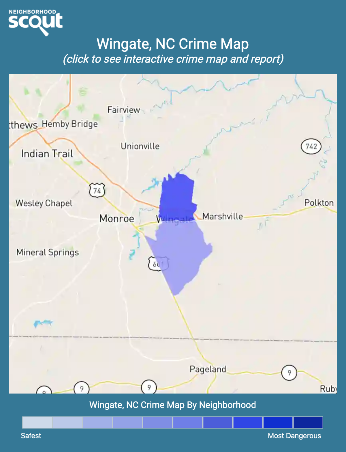 Wingate, North Carolina crime map