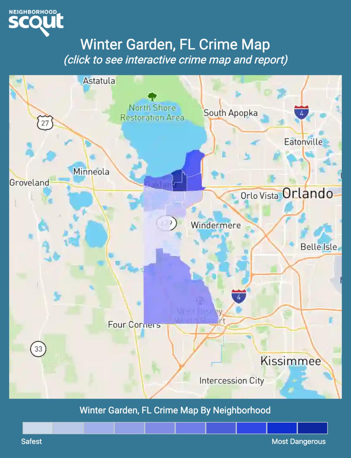 Winter Garden, Florida crime map