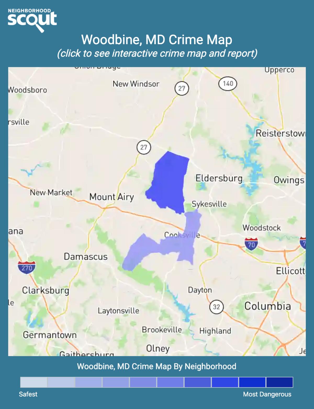 Woodbine, Maryland crime map