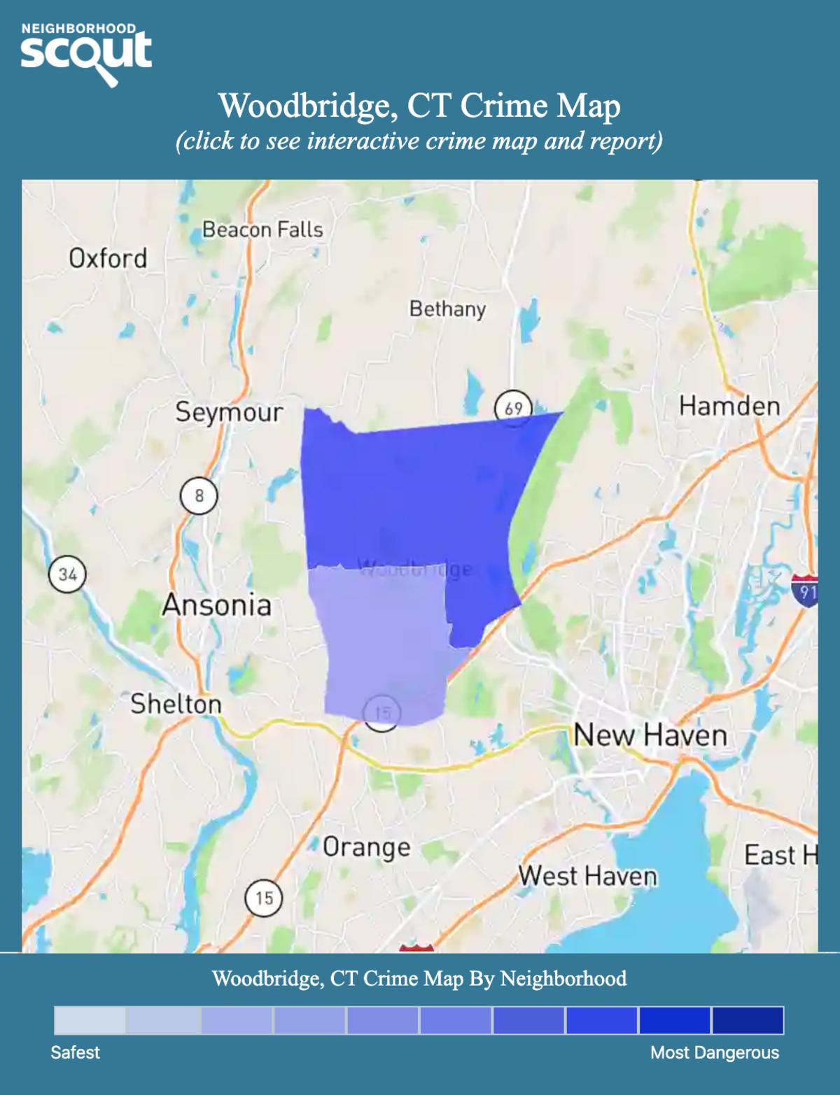 Woodbridge, Connecticut crime map