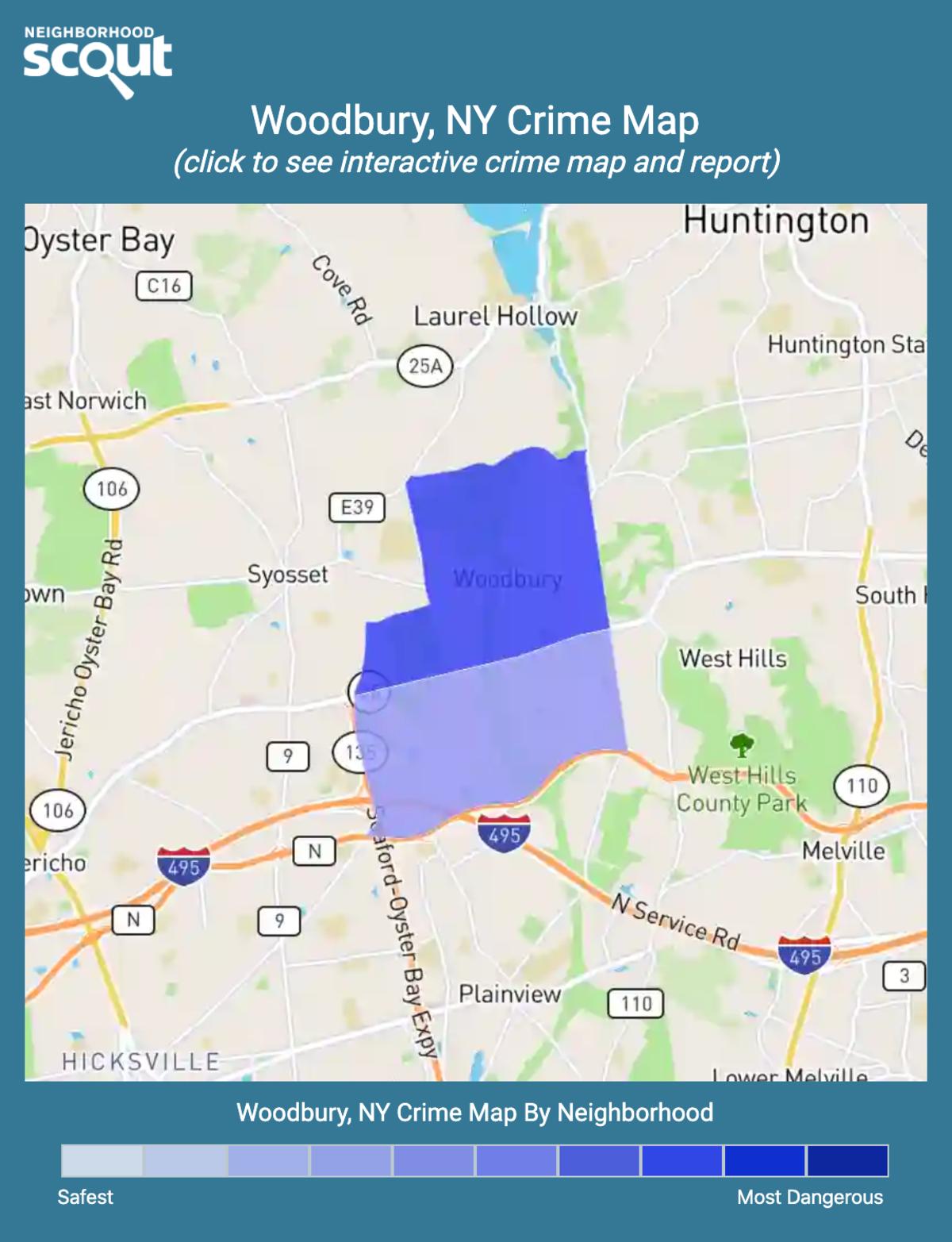 Woodbury, New York crime map