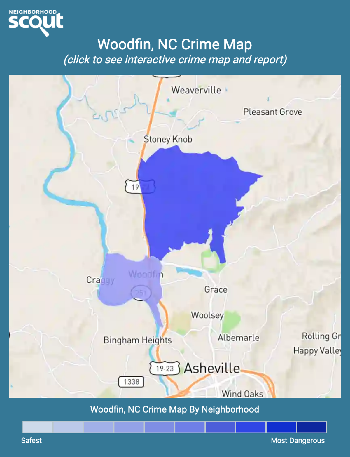 Woodfin, North Carolina crime map