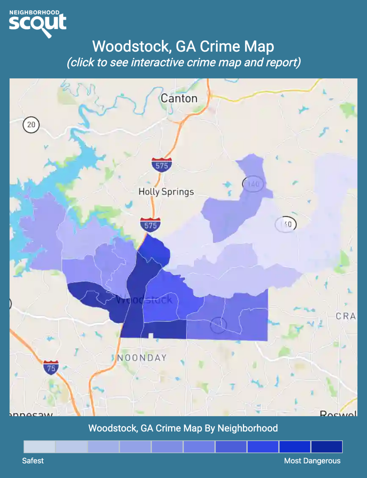 Woodstock, Georgia crime map