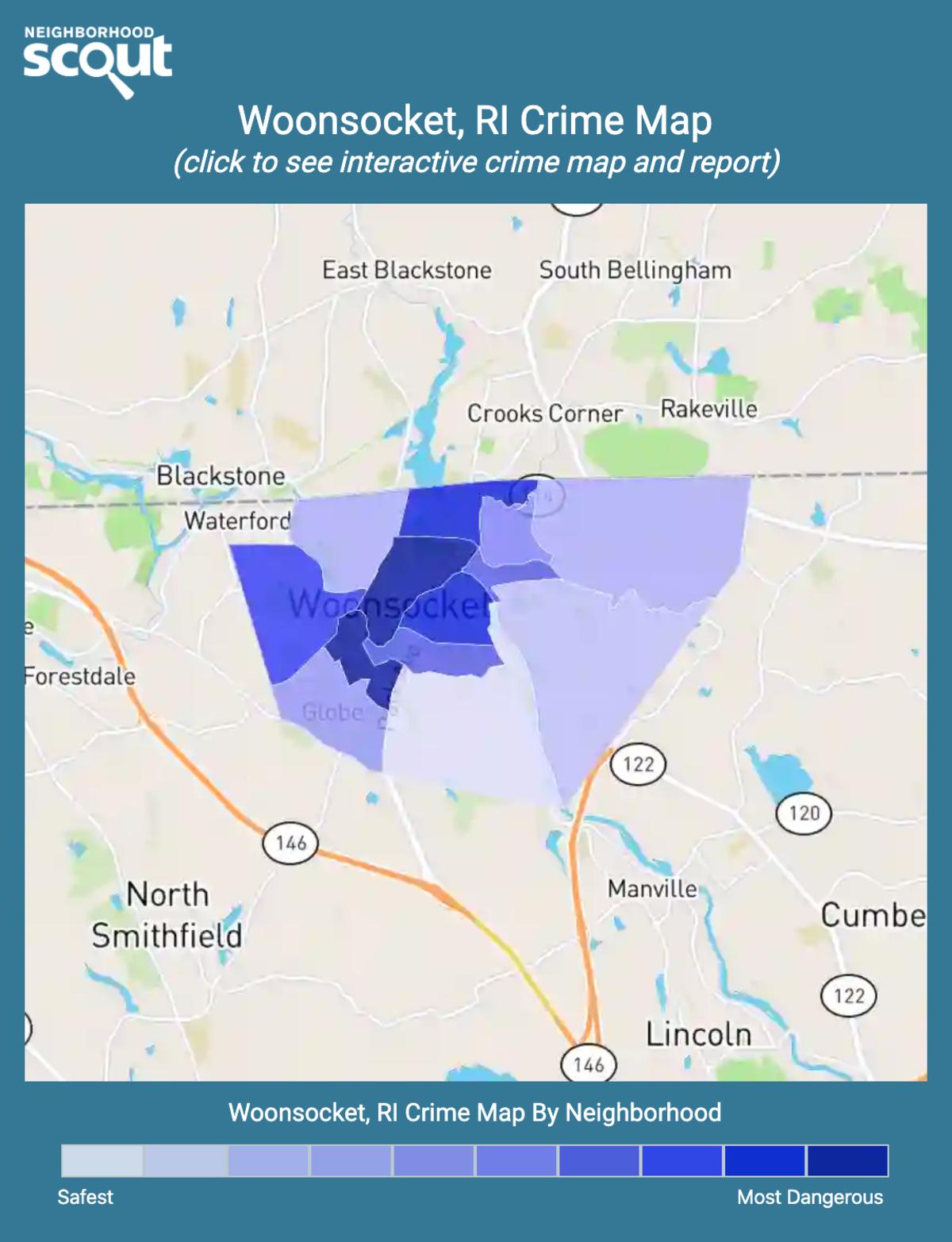 Woonsocket, Rhode Island crime map