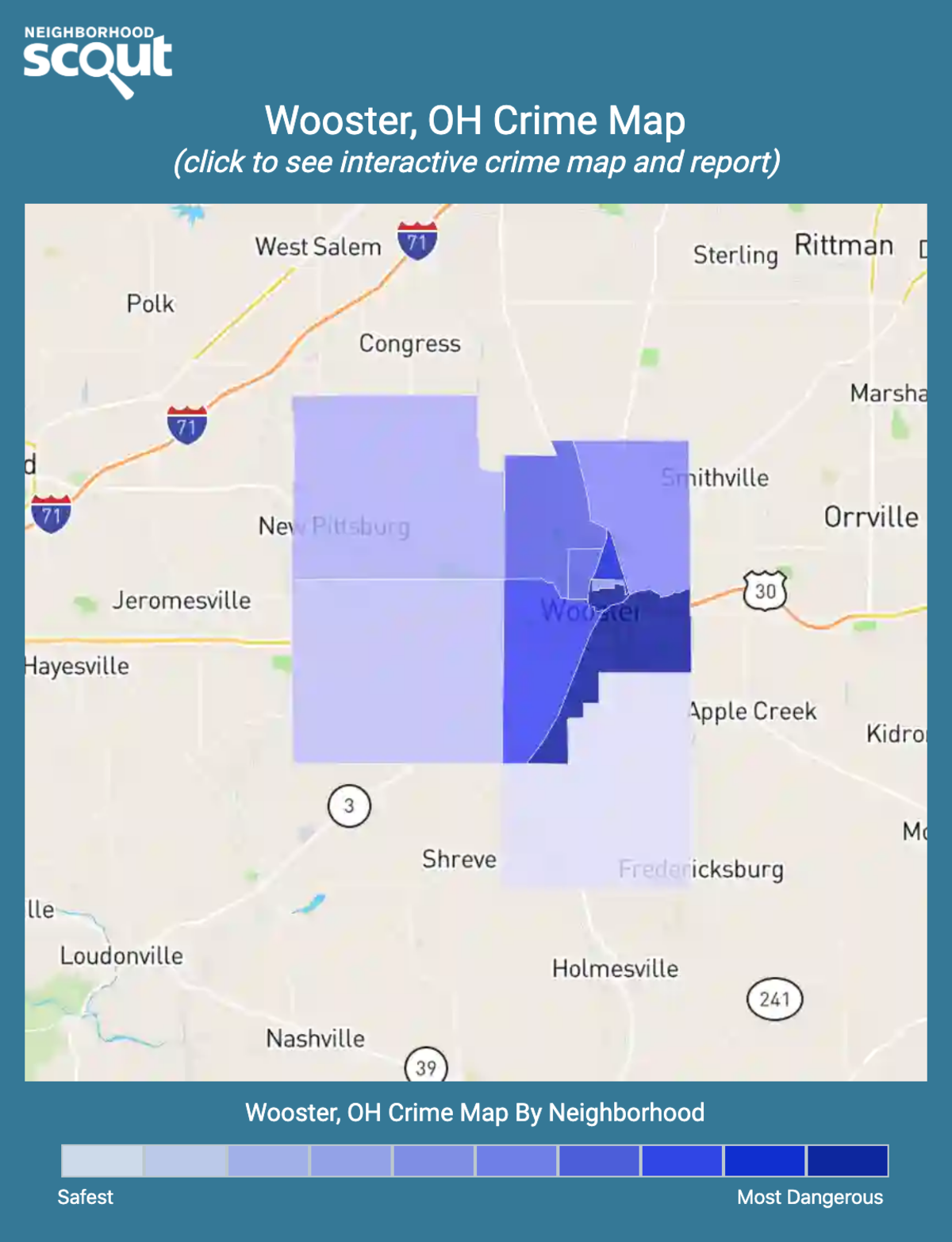 Wooster, Ohio crime map