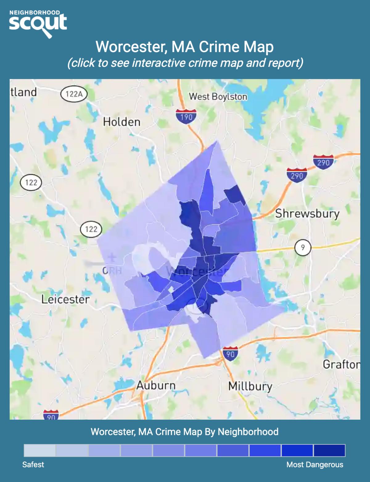 Worcester, Massachusetts crime map