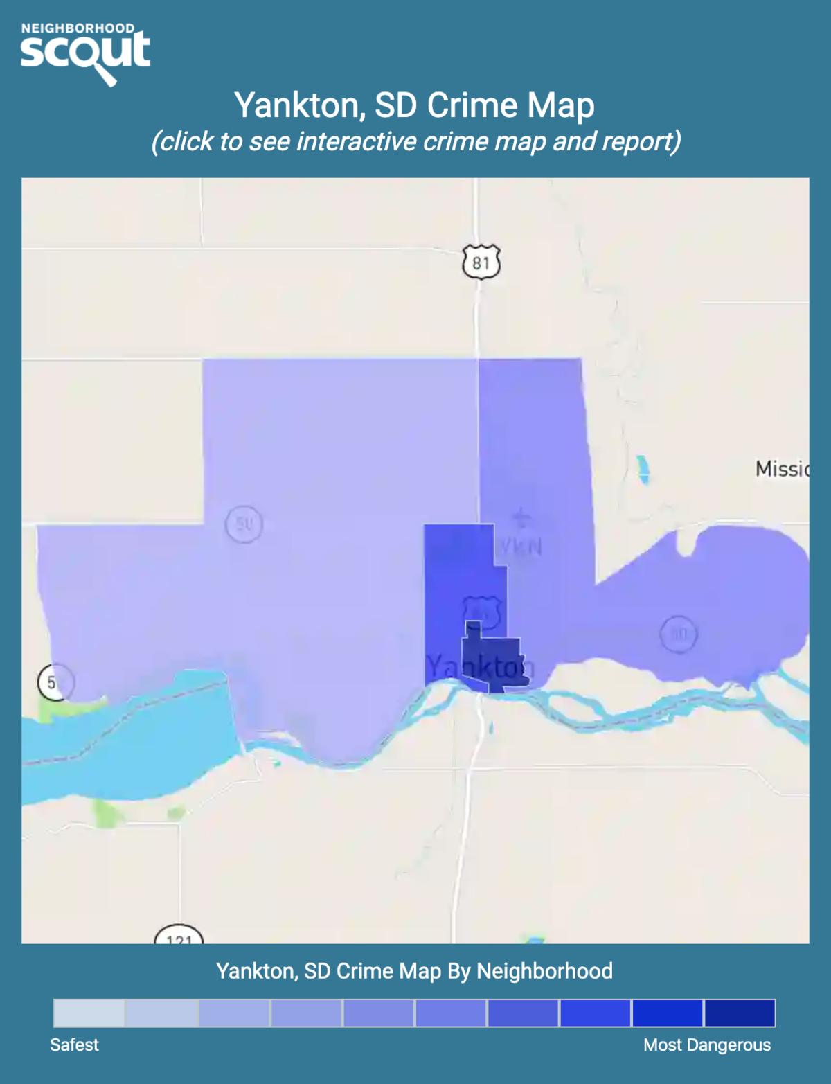 Yankton, South Dakota crime map