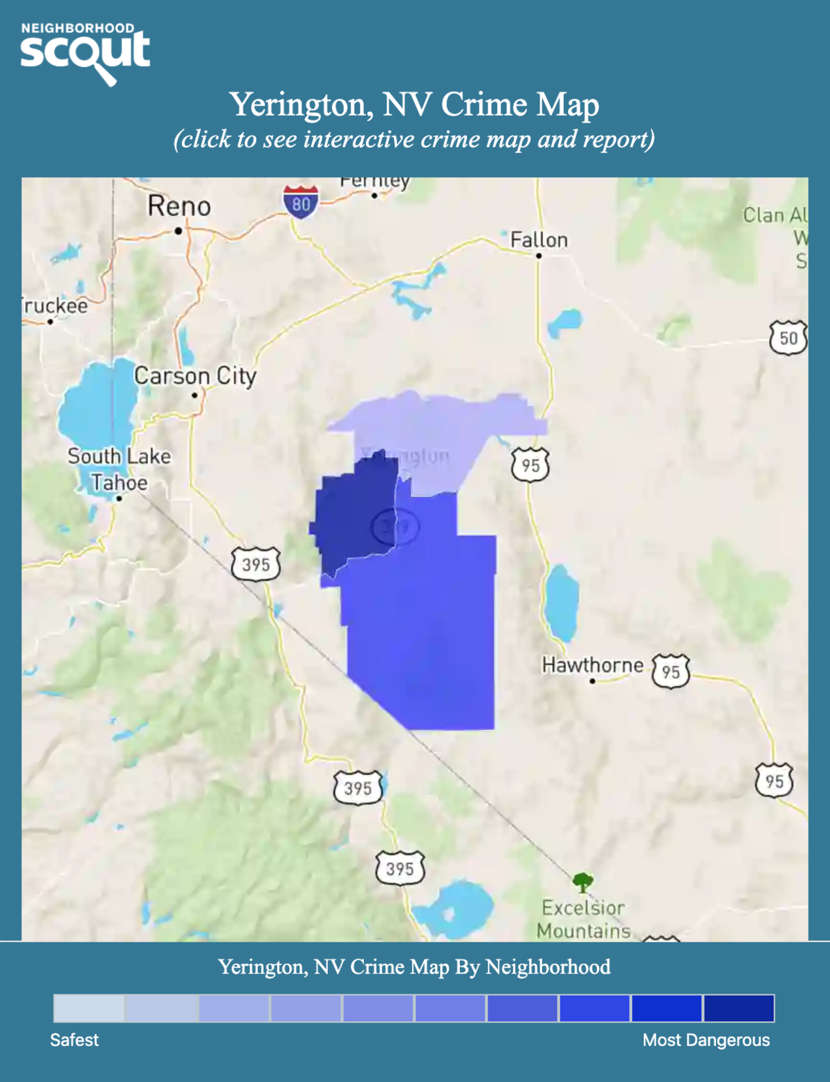 Yerington, Nevada crime map