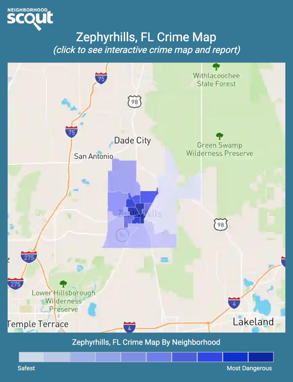 Zephyrhills, Florida crime map