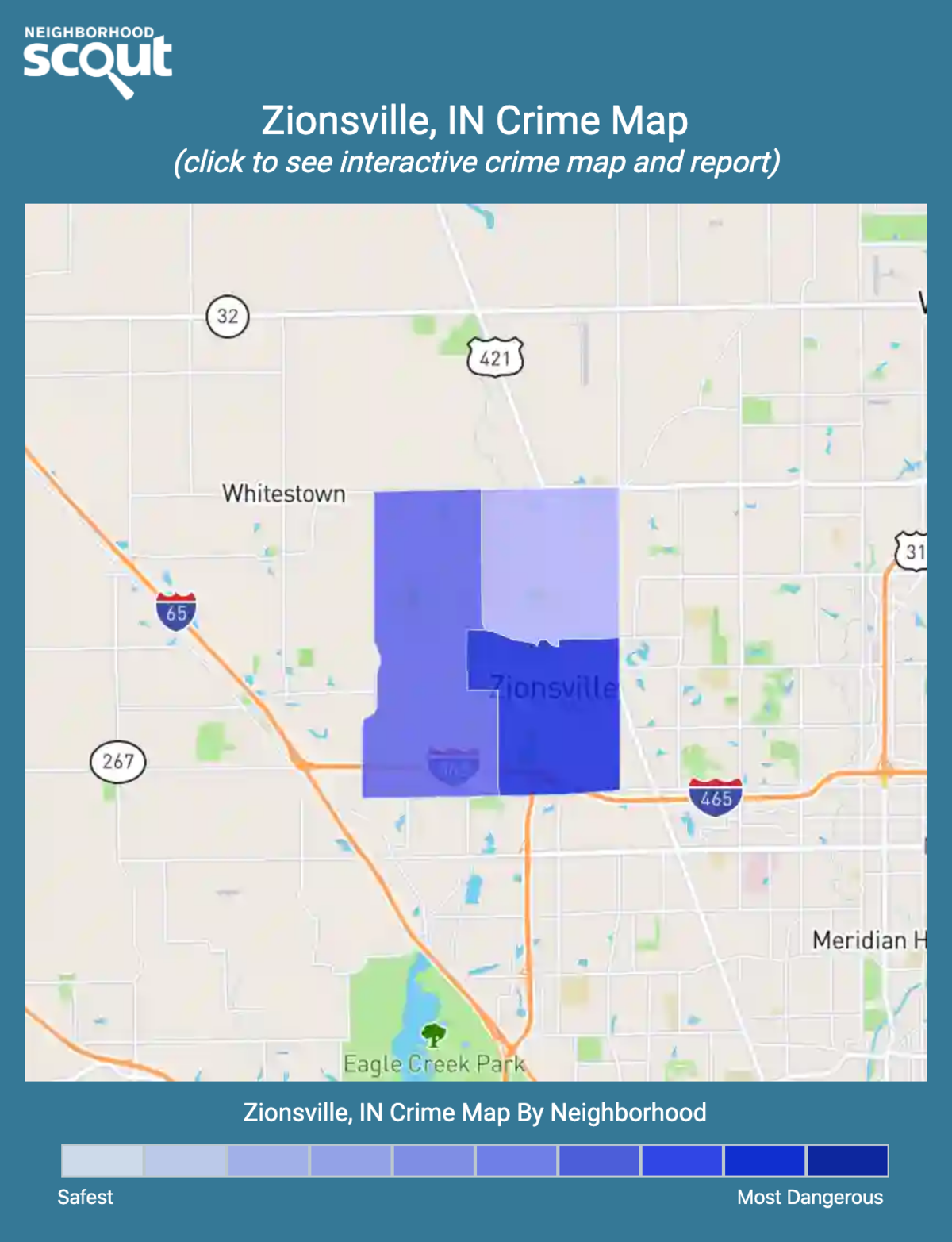 Zionsville, Indiana crime map