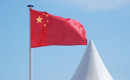 Bandeira da China e Domo