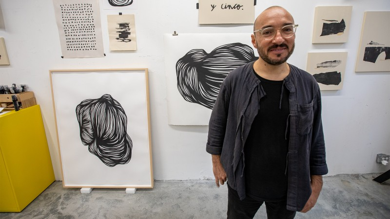 An Inside Look at Brooklyn-Based Artist Juan Miguel Marin's Meditative Process