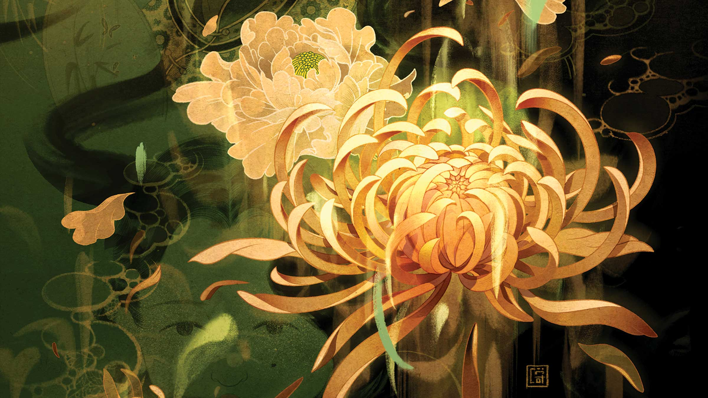 Artist Victo Ngai Captures the Lush, Enigmatic Layers of <em>Flowers of Shanghai</em>