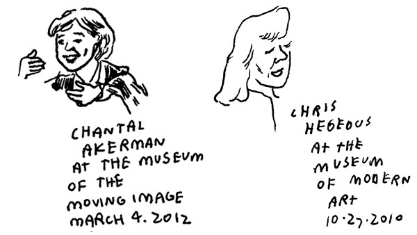 Chris Hegedus and Chantal Akerman by Polan