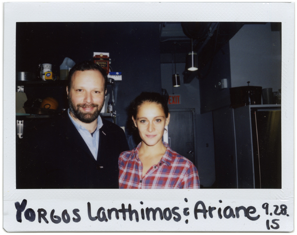 Yorgos Lanthimos and Ariane Laped