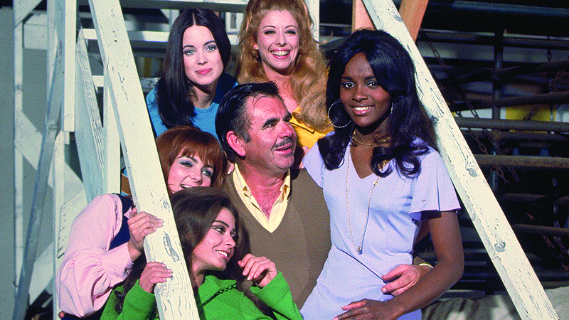 On the set of 'Beyond the Valley of the Dolls'