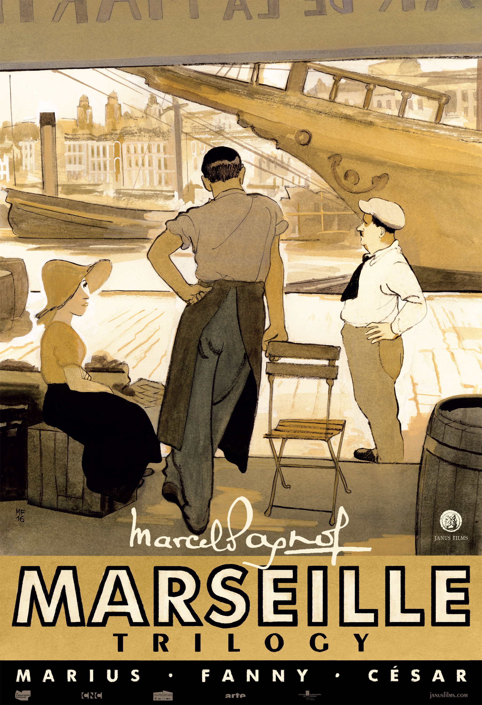 Premiering the Marseille Trilogy Poster