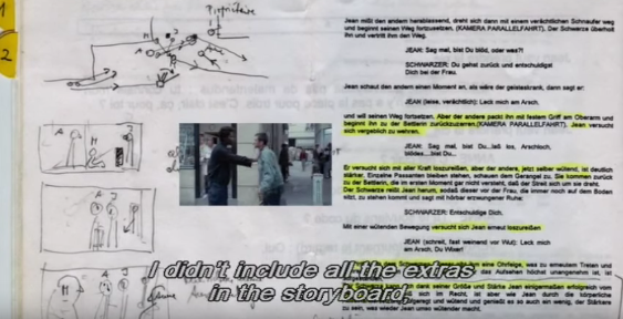 Michael Haneke on the Storyboarding of Code Unknown