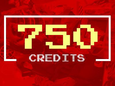 750 Arcade Credits