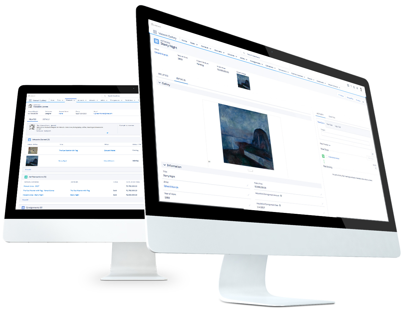 Veevart - Salesforce based Application for Art Gallery - Visualize and analyze the activities of your gallery