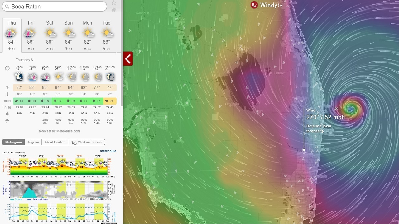Original hurricane matthew   boca ratons most intense hour