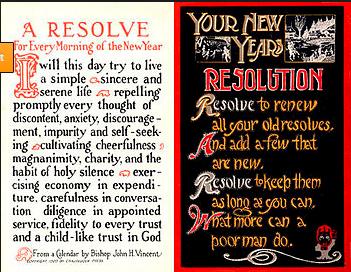 Original new years resolution