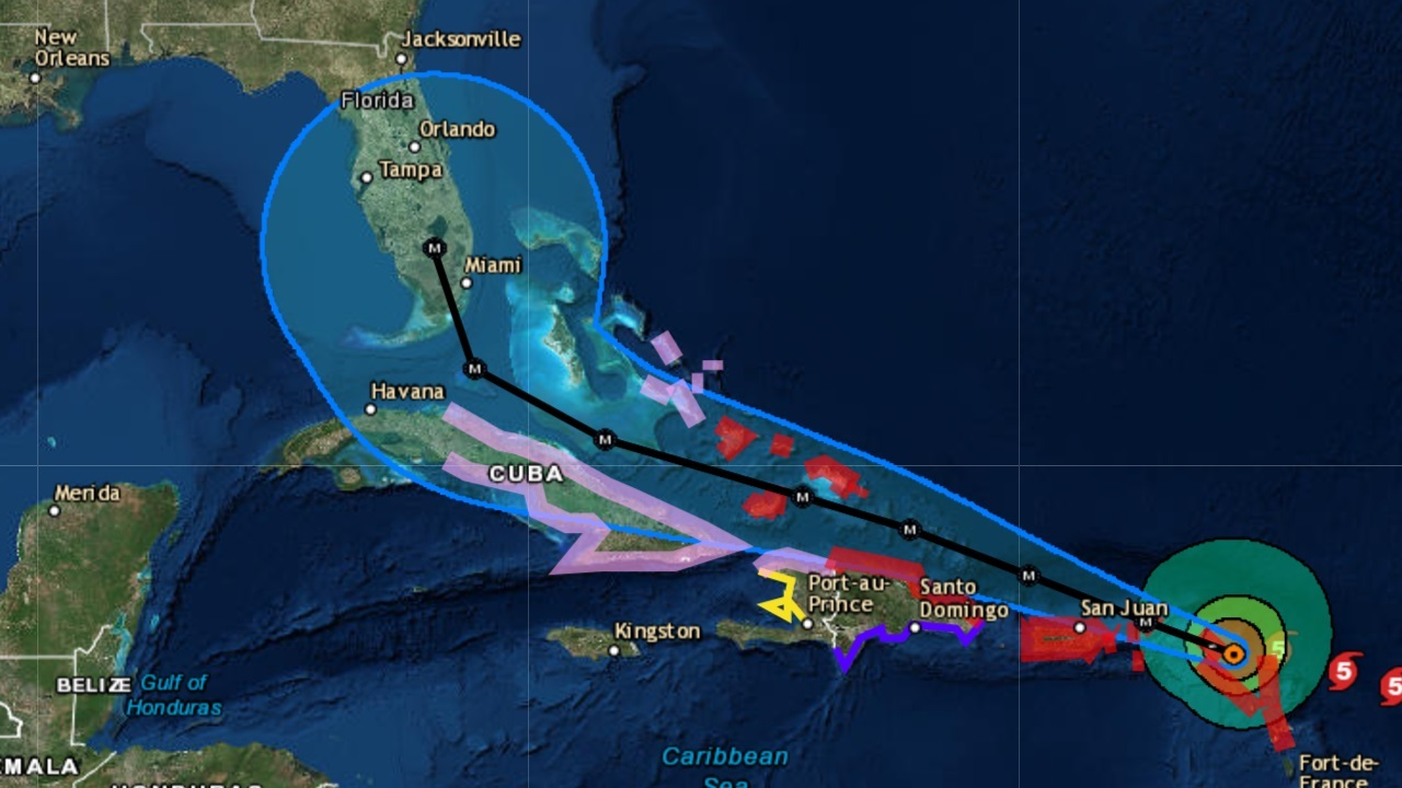 Original hurricane irma path